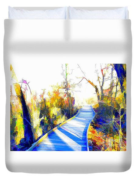 Open Pathway Meditative Space Duvet Cover by Robyn King