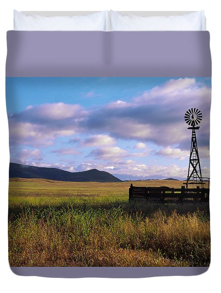 Open Range Pano View Duvet Cover