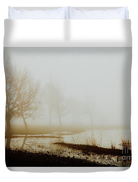 Duvet Cover featuring the photograph Open Space by Iris Greenwell