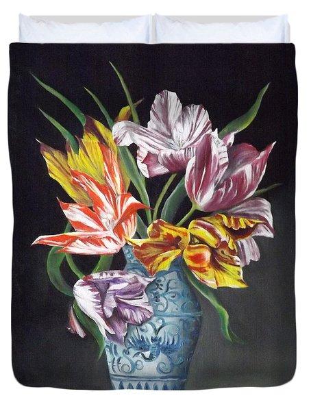 Open Tulips Duvet Cover
