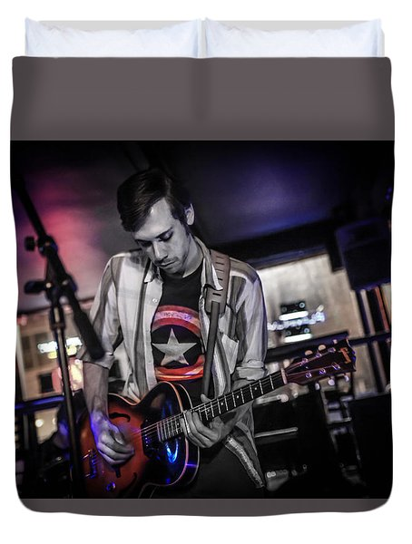 Open Tuning  Duvet Cover by Ray Congrove