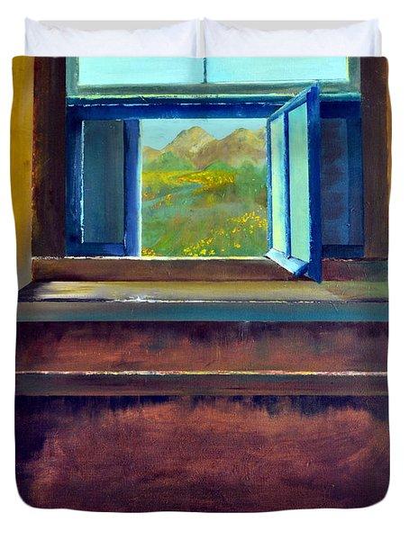 Open Window Duvet Cover