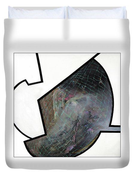 Open Your Mind Duvet Cover by Antonio Ortiz