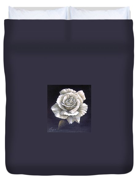 Opened Rose Duvet Cover
