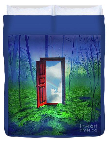 Opening Doors Duvet Cover