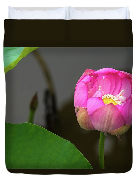 Opening Lotus Lily Duvet Cover