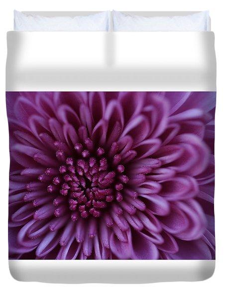 Duvet Cover featuring the photograph Purple Mum by Glenn Gordon