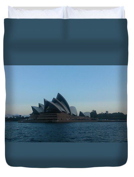 Opera House View Duvet Cover by Hiro Yasshie