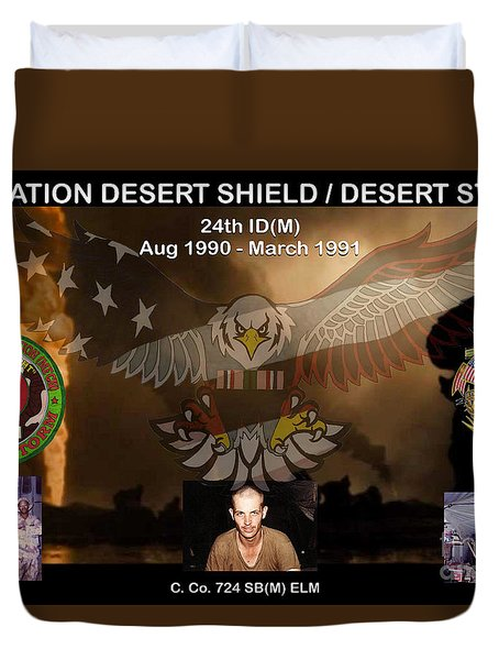 Operation Desert Shield/storm Duvet Cover