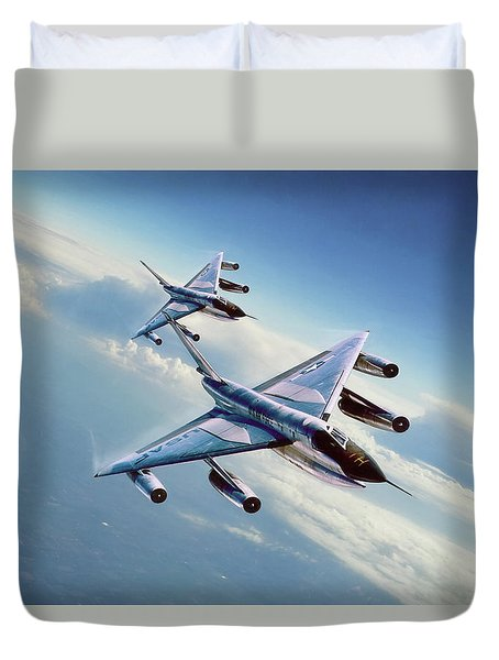 Duvet Cover featuring the digital art Operation Heat Rise by Peter Chilelli