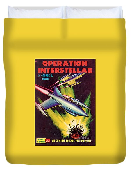 Operation Interstellar Duvet Cover by Malcolm Smith