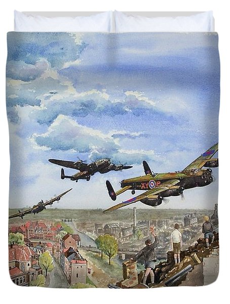 Operation Manna I Duvet Cover by Gale Cochran-Smith