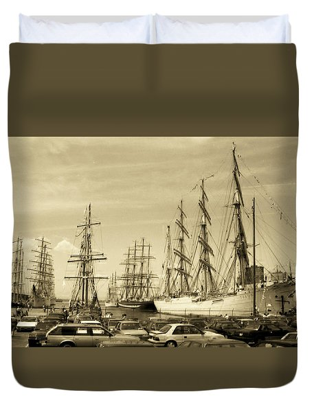 Operation Sail 1992 Brooklyn Duvet Cover
