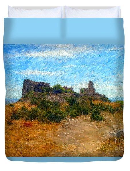Opoul Castle Ruins II Duvet Cover
