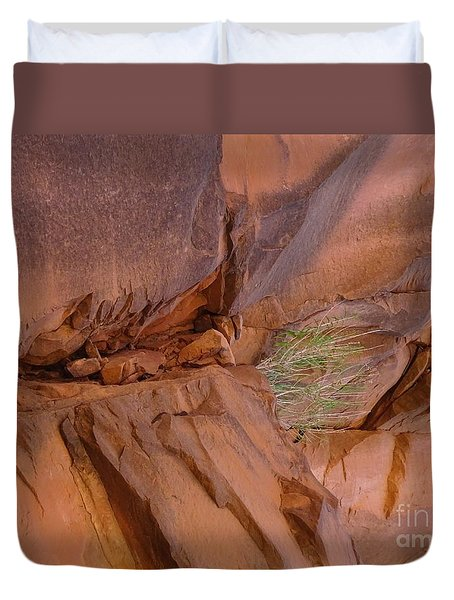 Duvet Cover featuring the photograph Opportunity Rocks by Brian Boyle