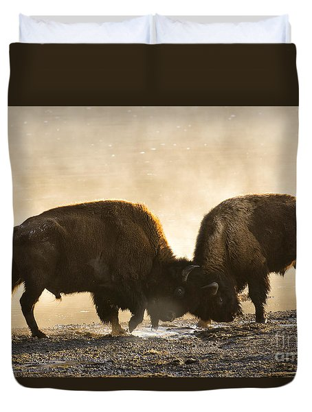 Opposing  Duvet Cover by Aaron Whittemore