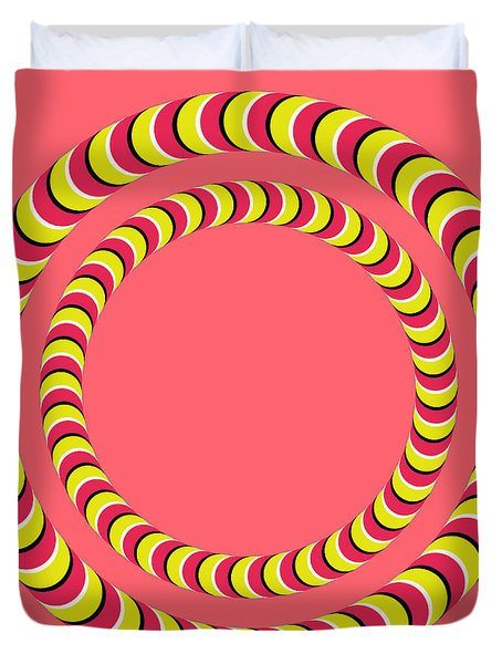 Optical Illusion Circle In Circle Duvet Cover