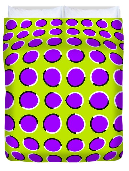 Optical Illusion The Ball Duvet Cover