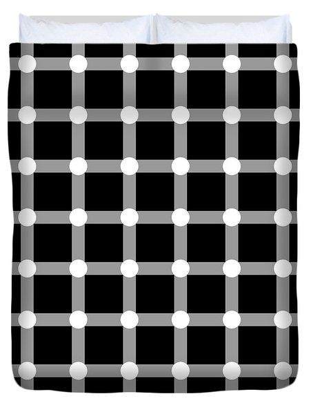 Optical Illusion The Grid Duvet Cover