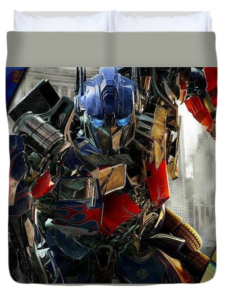 Optimus Prime Transformers Collection Duvet Cover