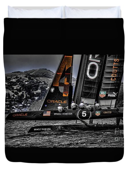 Oracle Winner 34th America's Cup Duvet Cover