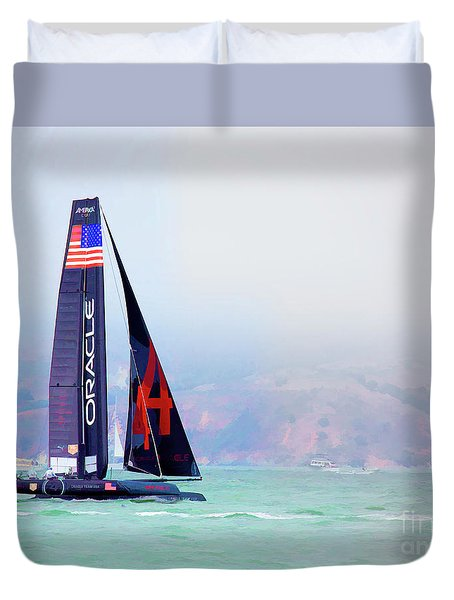 Oracles Usa  America's Cup Paint  Duvet Cover