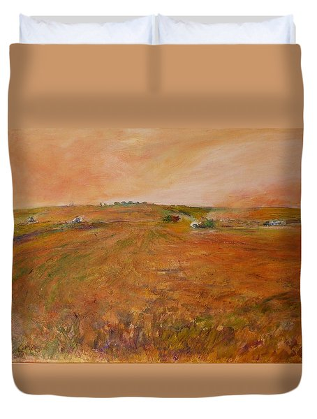 Orange Afternoon  Duvet Cover