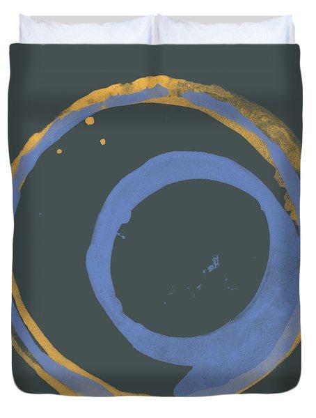 Orange And Blue 3 Duvet Cover by Julie Niemela