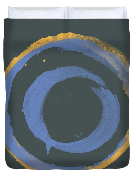 Orange And Blue1 Duvet Cover