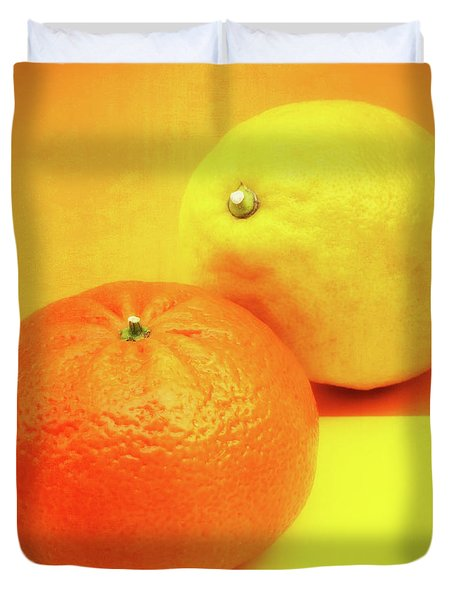 Orange And Lemon Duvet Cover