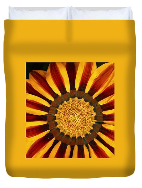 Orange And Yellow Over And Over Duvet Cover