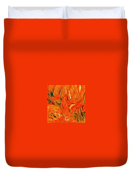 Orange Art Duvet Cover