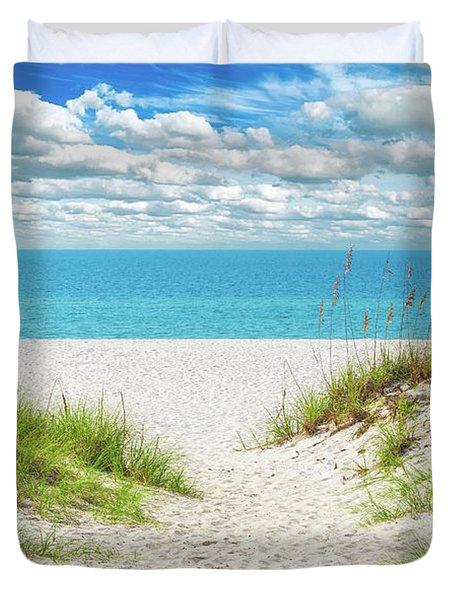 Orange Beach Al Seascape 1086a Duvet Cover