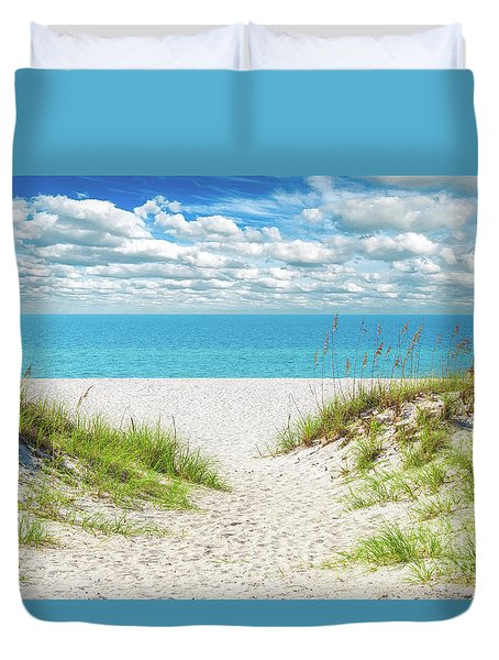 Orange Beach Al Seascape 1086a Duvet Cover
