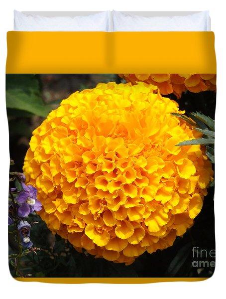 Orange Bloom Duvet Cover by Erick Schmidt