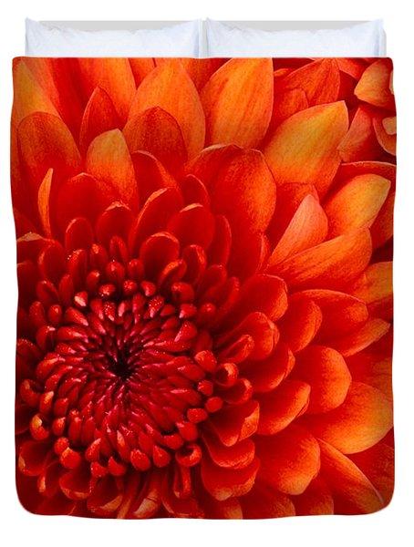 Orange Bloom Duvet Cover