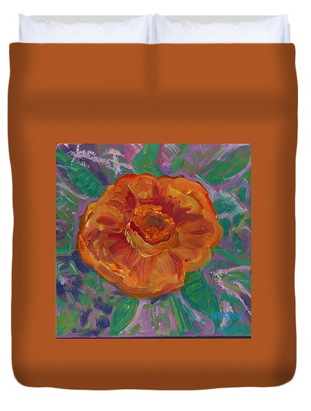 Orange Blossom Duvet Cover by John Keaton