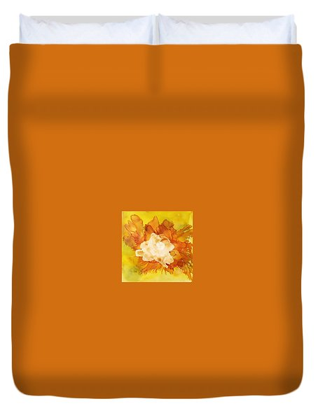 Orange Blossom  Duvet Cover by Suzanne Canner