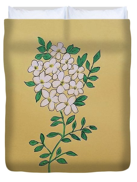 Duvet Cover featuring the painting Orange Blossoms by Margaret Welsh Willowsilk