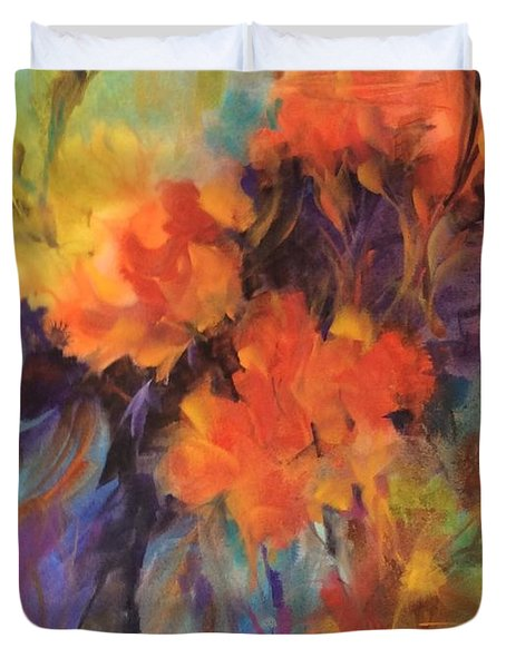 Orange Bouquet Duvet Cover