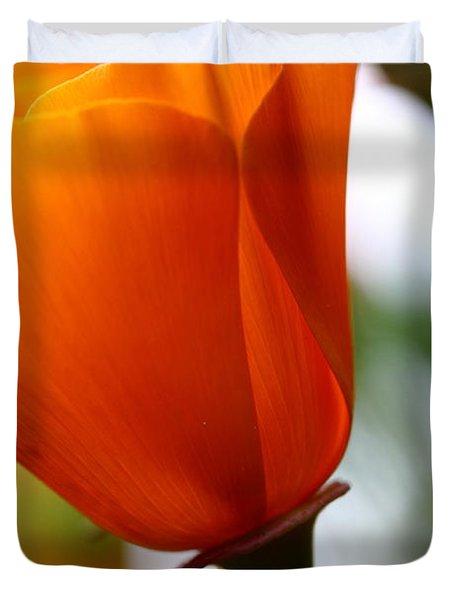 Orange California Poppy . 7d14789 Duvet Cover