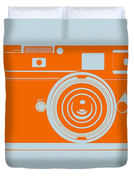 Orange Camera Duvet Cover