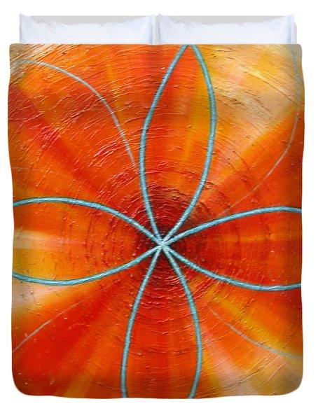 Orange Chakra Duvet Cover by Anne Cameron Cutri
