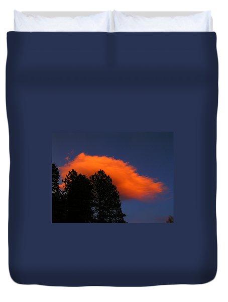 Orange Cloud Duvet Cover
