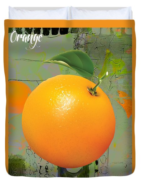 Orange Collection Duvet Cover by Marvin Blaine