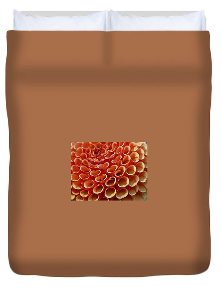 Orange Dahlia Crush Duvet Cover