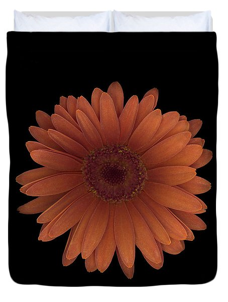 Orange Daisy Front Duvet Cover