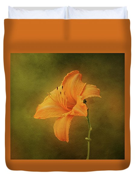 Orange Daylily Duvet Cover