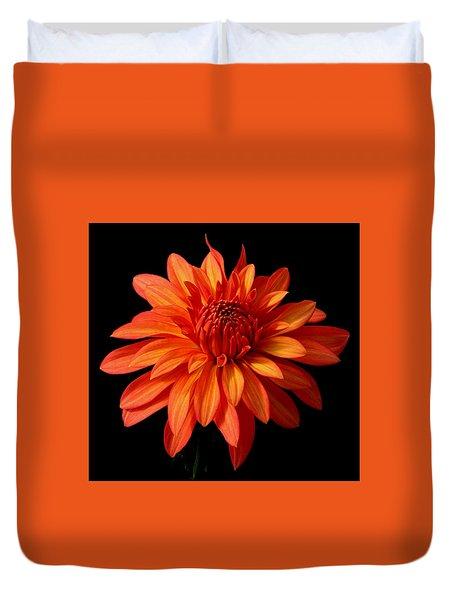 Orange Flame Duvet Cover