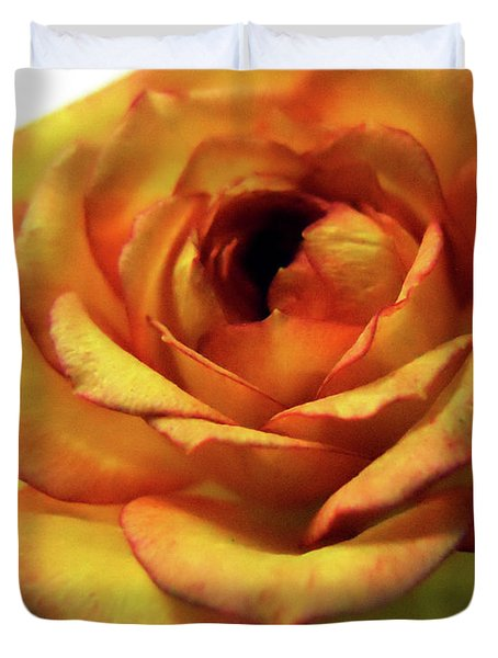 Orange Flower Duvet Cover by Maggy Marsh